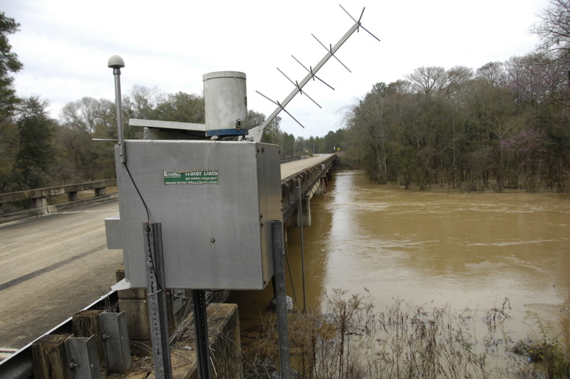 Spring Creek At Whites Bridge Road is overflowing the banks.