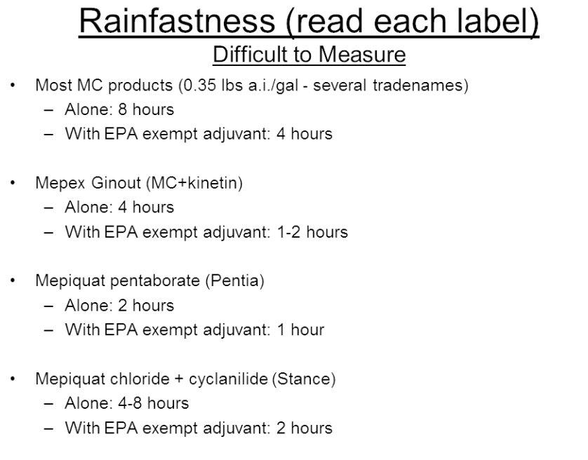 Rainfast